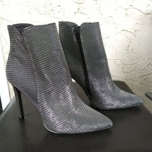 Call it Spring. Metallic ankle boots